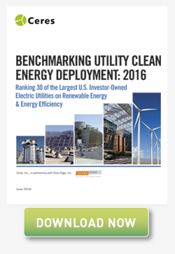 Benchmarking Utility Clean Energy Development 2016
