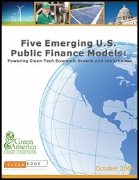 Five Emerging U.S. Public Finance Models