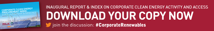Download your copy of the Corporate Clean Energy Procurement Index Report now banner